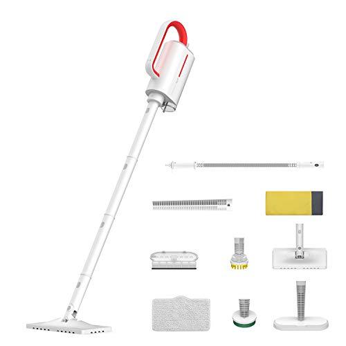 Deerma, Versione aggiornata pulitore a vapore con accessori, 5 in 1, scopa a vapore multifunzione, 1300 W, elettrodomestico con sacchetto