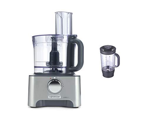 Kenwood FDM780BA MultiPro Classic Food Processor, Robot da Cucina con Frullatore, 1000 W, 3 Litri, Metallo Pressofuso, Argento