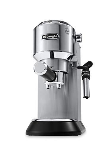 De'Longhi Dedica EC685.M Macchina da Caffè Espresso Manuale e Cappuccino, Caffè in Polvere o in Cialde E.S.E., 1350 W, Argento