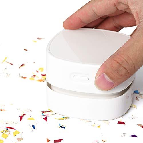 Surplex Mini Aspirapolvere per Desktop, Aspirapolvere da Tavolo Ricaricabile Senza Fili, Aspiratore Portatili, Sweeper per Trucioli di Matita, Trucioli di Gomma, Coriandoli, Tastiera, Scrivania, Auto