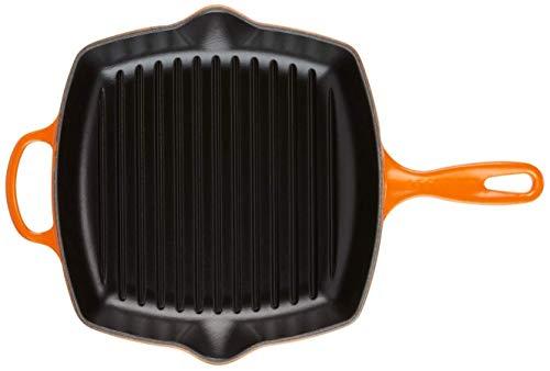 Le Creuset Evolution Bistecchiera in Ghisa, Quadrata, 26 cm, Adatta a Tutte le Fonti di Calore, Inclusivo Induzione, 2.86 kg, Arancione