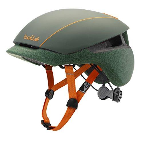 bollé Messenger Standard, Casco da Bici Unisex-Adulto, Khaki Orange Matte, Large 58-62 cm