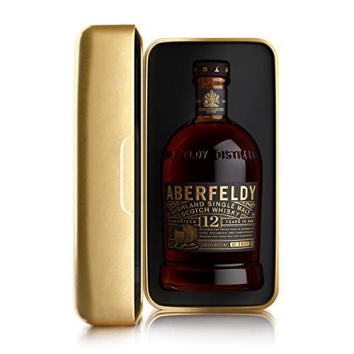 Aberfeldy Scotch Whisky Single Malt 12 Anni, Intenso e Persistente, Gold Box Limited Edition, Idea Regalo - 70cl