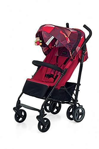 Foppapedretti Hurrà Passeggino Compatto per Bambini da 0 a 3 Anni, Coral Red