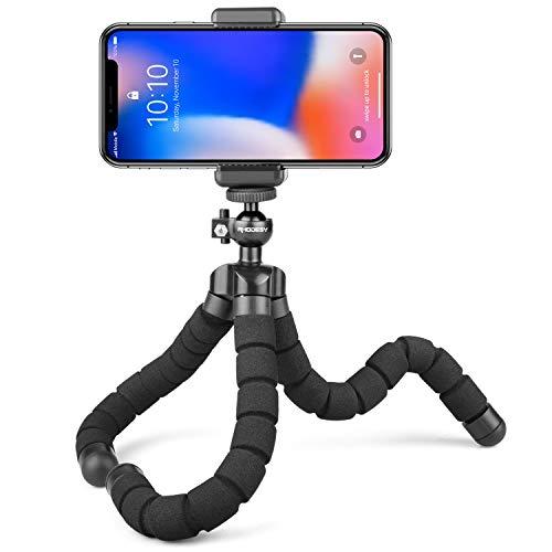 Rhodesy RT-01 Treppiede Portatile Octopus Style con Supporto per Phone, Qualsiasi Smartphone, Videocamera con Clip Universale