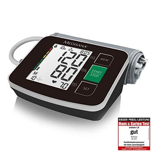 Medisana BU 516 Misuratore di Pressione Sanguigna Braccio Superiore, senza Cavi, Visualizzazione dell'Aritmia per una Misurazione Precisa della Pressione Sanguigna con Funzione di Memoria