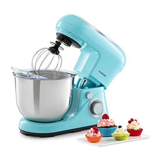 Klarstein Bella Pico 2G - Robot da Cucina, Mixer, Impastatrice, 1200 W / 1,6 PS, 6 Livelli, Sistema di Miscelazione Planetario, Ciotola in Acciaio Inox da 5L, Blu