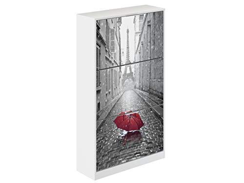 PAris Shoe Cabinet, Bianco e nero, stampa Parigi