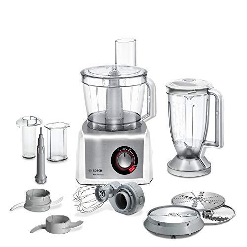 Bosch MC812S814 MultiTalent - Robot da cucina compatto in acciaio INOX spazzolato, ciotola XXL da 3,9 l, 1250 W, colore: Bianco