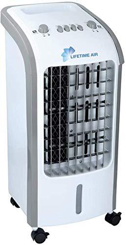 Bakaji Raffrescatore Rinfrescatore Ventilatore Umidificatore d'aria Air Cooler Massima Potenza Raffreddamento ad Acqua con serbatoio Ghiaccio Acqua, Timer (4 Litri)