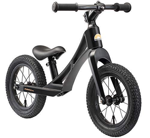 BIKESTAR Magnesia (Peso Leggero) Bicicletta Senza Pedali 3 - 4 Anni per Bambino et Bambina | Bici Senza Pedali Bambini 12 Pollici BMX | Noir