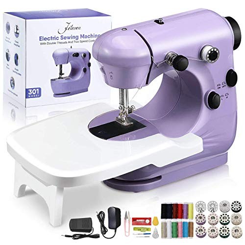 Jeteven Macchina da Cucire, Macchina da cucire Art Craft con pedale a 2 velocità, doppia velocità, controllo elettrico, macchina da cucire