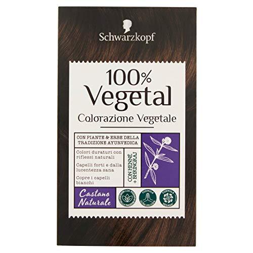 Schwarzkopf Tinta Vegetale per Capelli, Castano Naturale