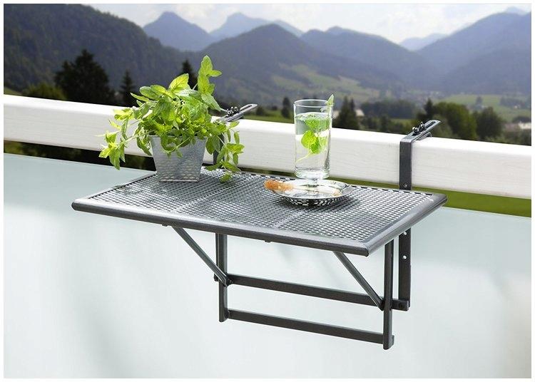 Tavolino da ringhiera Lidl: da appendere al balcone, salvaspazio e pieghevole 1